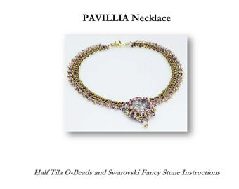 PAVILLIA Necklace Beadwork Exclusively PDF Beading tutorial for personal use only