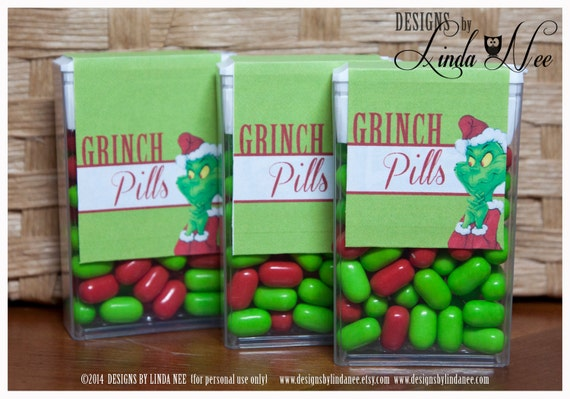 Printable Grinch Poem for Grinch Pill Favors
