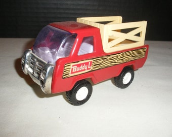Vintage Buddy L Stake Farm Pressed Steel Toy Truck