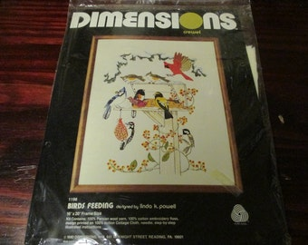 Dimensions Crewel Kit 1196 Birds Feeding Sealed and Ready to Stitch