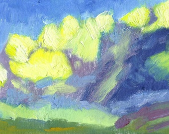 original oil landscape painting small on canvas Storm Fell No. 3
