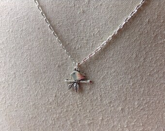 Sparrow on a Branch Charm Necklace