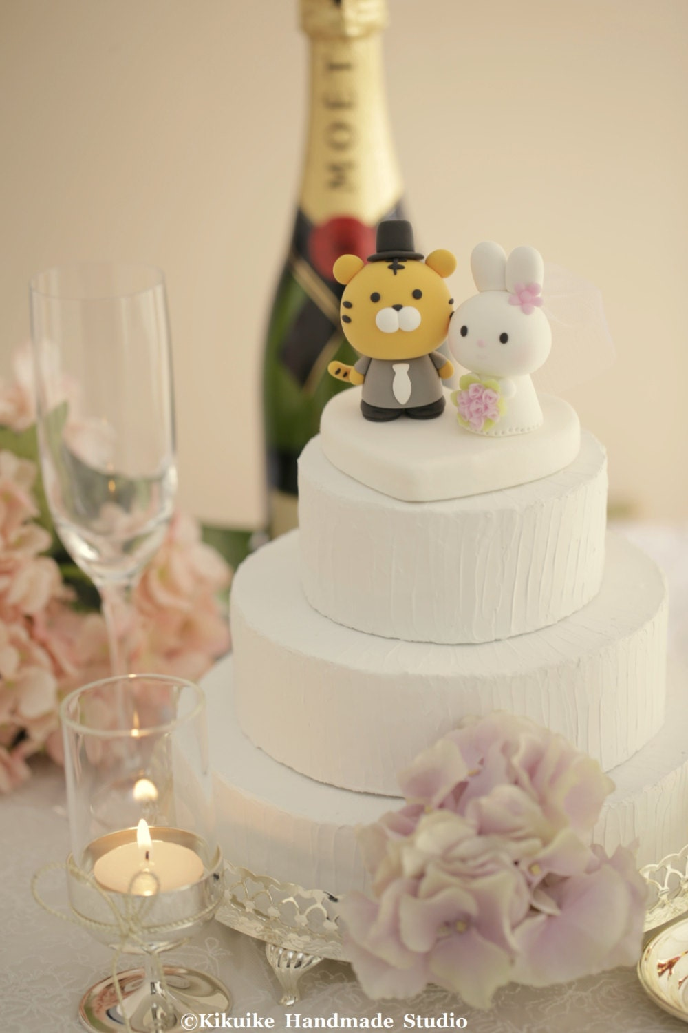 tiger and bunny wedding cake topper, chinese zodiac wedding cake ...