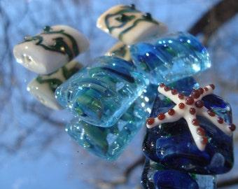 Ocean Themed Set of 5 Pillow Beads