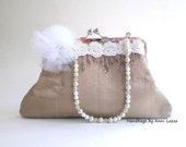 champagne beige bridal clutch, clutch purse, evening bag, bridal purse, spring wedding, wedding purse, flapper, prom purse, summer wedding