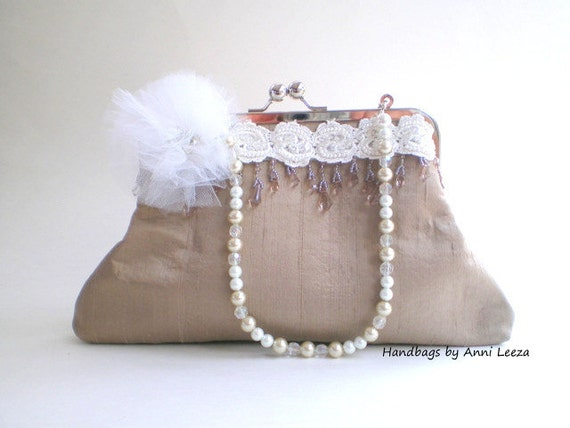 champagne beige bridal clutch, clutch purse, evening bag, bridal purse, spring wedding, wedding purse, flapper, prom purse, summer wedding