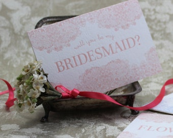 Will you be my Bridesmaid? - letterpress greeting card