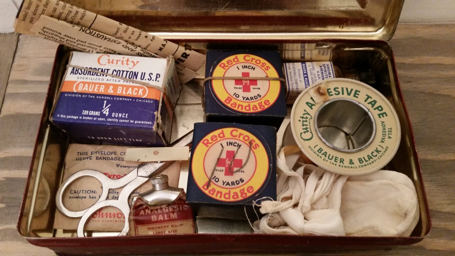 Image result for old first aid kit