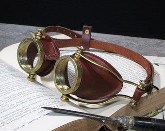 Steampunk Goggles Brass Goggles Steam Punk Glasses Victorian Cosplay LARP