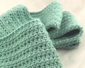 Ocean Teal Alpaca Blend Crochet Scarf ... awesome for men or women