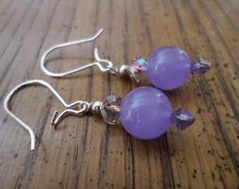 Lavender Agate Earrings ***Clearance Priced***