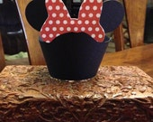 Mouse with Bow Cupcake wrappers set of 12~ Minnie Mouse Inspired
