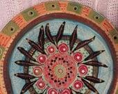 Charming Patterned PlateWonderful Cottage Vinatage Colours