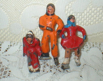 Vintage Antique Lead Figures Lead Toys 1940s Barclay Or Manoil