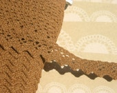 "Brown Cluny Lace - Medium Brown Crochet Trim - 5/8"" Wide - Caramel"