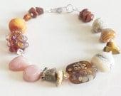 Arizona Treasures Lampwork Gemstone Sterling Silver Bracelet by keiara SRA