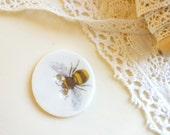 Handmade Buzzy Bee Button