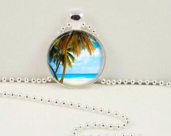 Beach Necklace, Beach Pendant, Cute Tropical Bohemian Gypsy Jewelry  RW064