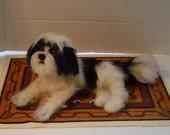 Needle felted dog Custom Shih Tzu pet sculpture art miniature animals