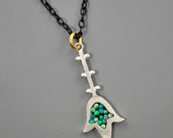 Hamsa Mosaic Necklace