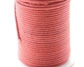 25 Meters of Round Wax Cotton Cord - Italian Red 1.5mm (611)