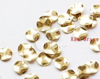 200pcs Raw Brass Waved Disc - 7mm (2020C-F-534)