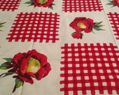 """Vintage Wilendur """"Gingham in Red"""" tablecloth"""