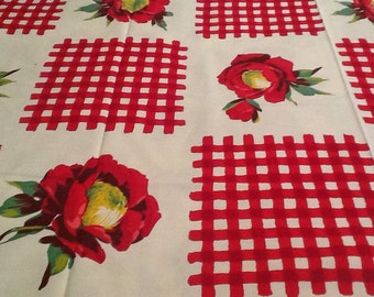 "Vintage Wilendur ""Gingham in Red"" tablecloth"