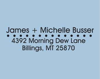 Self Inking Custom Return Address James + Michelle Busser Design 100-009