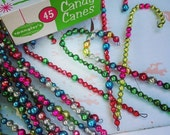 Vintage Glass Garland Candy Cane - set of THREE