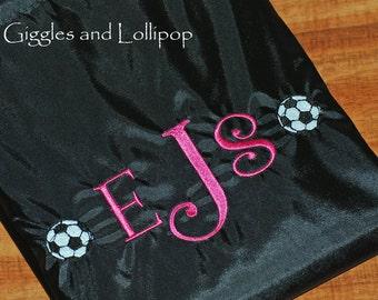 Boys girls personalized sports soccer cinch sak backpack ring bearer flower girl gift
