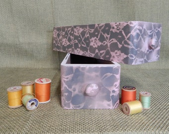 Vintage Singer Sewing Machine Drawers - Painted Pink and Gray