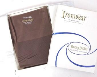 Vintage Seamless Textured Nylon Stockings 10.5 M