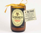 Guinness Extra Stout Beer Candle Irish Gift from Ireland Dublin Guinness Beer Gift Brown Bottle Candle Soy Wax Unscented Candle St. Patrick