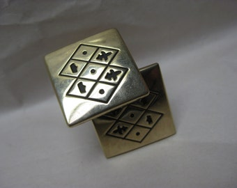 Gold Cuff Links Vintage Swank