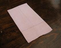 Vintage Shabby Chic Guest Towel, Vintage Pink Guest Towel, Finger Towel,  Guest Towel, Pink Towel