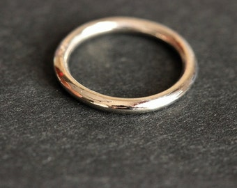 22k  white Gold band ring - Wedding band - Engagement ring - Artisan ring - Gift for her