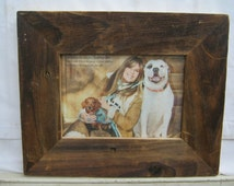 Salvaged Recycled 5x7 Wood Photo Picture Frame S2269-14
