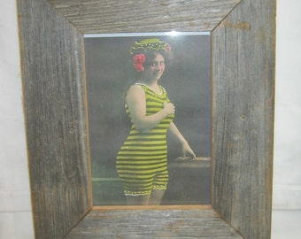 Salvaged Recycled 5x7 Wood Photo Picture Frame S2267-14