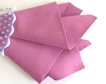 Rose Pink, 100% Wool, Felt Sheet, Large Square, Choose A Size, DIY Craft Supply, Waldorf Handwork, Felt Flowers, Doll Supply, Soft Pink