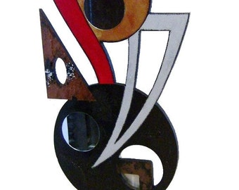 """Unique """"Red Odyssey"""" Contemporary Modern Abstract Floor Sculpture by Diva Art69 Studios"""