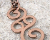 Handmade Copper Colored Metalwork Necklace Pendant A1119B4
