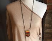 Autumn colors ladder necklace