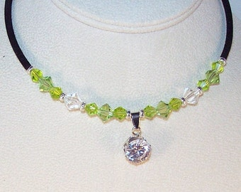 Swarovski Crystal and Cubic Zirconia Necklace