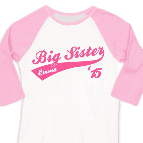 Big sister or big sister to be '15 sporty swoosh raglan shirt