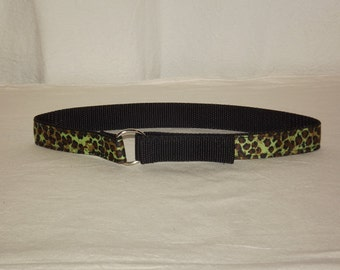 Green Cheetah Toddler Belt