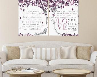Christina Perri Lyric Art,A Thousand Years, Custom Lyric Art,Anniversary Gift, Wedding Keepsake, Choose Art Print or Canvas // W-L11-2PS HH4