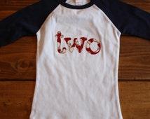 Boy Birthday Shirt, Baseball Shirt, 2nd Birthday Shirt, Baseball Theme Party, Sports Theme Shirt, Ready to Ship Birthday Shirt
