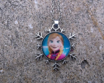 Anna from Frozen Snowflake Necklace