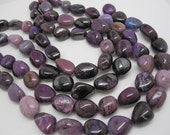 AA Sugilite Beads, 18mm x 21mm, Natural African Sugilite, Smooth Nuggets, Smooth Pebbles, SKU 4396A